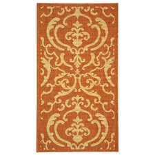 <strong>Safavieh</strong> Courtyard Terracotta / Natural Rug
