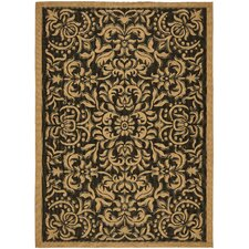 <strong>Safavieh</strong> Courtyard Dark Black Rug