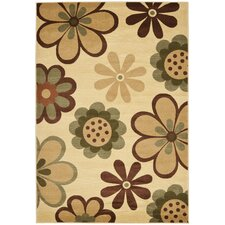 Porcello Ivory/Green Rug