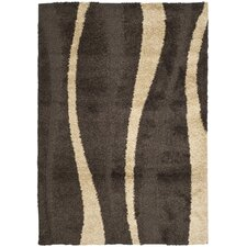 <strong>Safavieh</strong> Florida Shag Dark Brown/Beige Rug