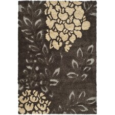 <strong>Safavieh</strong> Florida Shag Dark Brown/Gray Rug