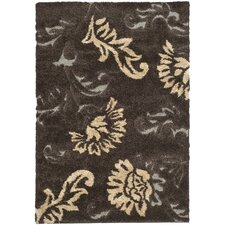 Florida Shag Dark Brown/Smoke Rug