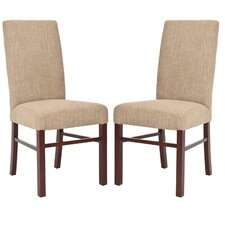 <strong>Safavieh</strong> Classical Cotton Parson Chair (Set of 2)