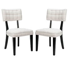 <strong>Safavieh</strong> Harper Fabric Side Chair (Set of 2)