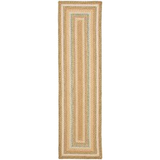 <strong>Safavieh</strong> Braided Tan/Multi Rug