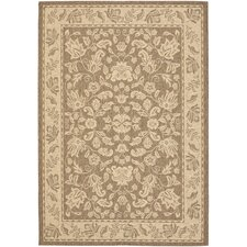 Courtyard Creme / Brown Outdoor Area Rug