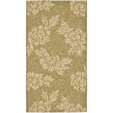Courtyard Olive / Creme Outdoor Area Rug