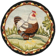 Hen on The Hill Novelty Rug