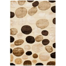 <strong>Safavieh</strong> Miami Shag Cream/Multi Polka Dots Rug