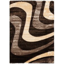 <strong>Safavieh</strong> Miami Shag Brown/Beige Rug