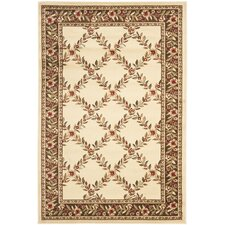 Lyndhurst Ivory/Brown Checked Area Rug