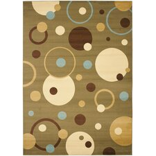 Porcello Green/Multi Rug