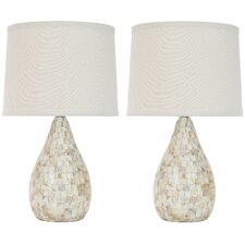 <strong>Safavieh</strong> Eleanor Mother of Pearl Inlay Table Lamp (Set of 2)