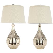 "Grace 27.5"" H Table Lamp with Empire Shade (Set of 2)"