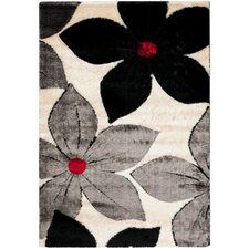 Miami Shag Black/Multi Floral Rug