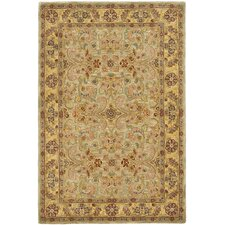 Classic Light Green / Gold Rug