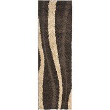 Florida Shag Dark Brown/Beige Rug