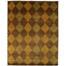 Tibetan Brown Geometric Rug
