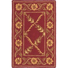 Wilton Red Rug