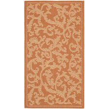 Courtyard All Over Ivy Terracota Rug