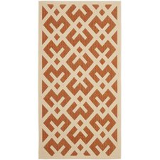 Courtyard Terracotta/Bone Indoor/Outdoor Rug