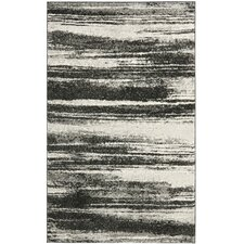 Retro Dark Grey & Light Grey Area Rug
