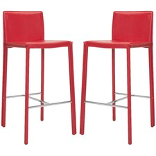 "Enzo 30"" Bar Stool with Cushion (Set of 2)"