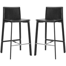 "<strong>Safavieh</strong> Journey 30"" Bar Stool with Cushion (Set of 2)"