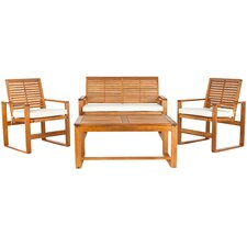 Ozark 4 Piece Lounge Seating Group in Brown with Cushions