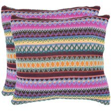 <strong>Safavieh</strong> Mckenzie Burst Polyester Decorative Pillow (Set of 2)