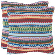 Mckenzie Burst Polyester Decorative Pillow (Set of 2)