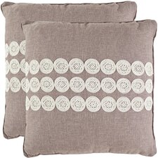 <strong>Safavieh</strong> Skylar Polyester Decorative Pillow (Set of 2)