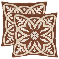 <strong>Safavieh</strong> Gage Polyester Decorative Pillow (Set of 2)