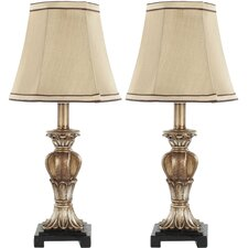 """Mini 16"""" H Table Lamp Set with Empire Shade (Set of 2)"""