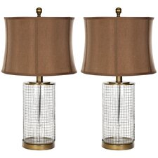"Cage 26.5"" H Table Lamp with Drum Shade (Set of 2)"