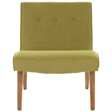 <strong>Safavieh</strong> Mandell Linen Fabric Slipper Chair