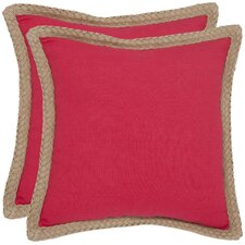 Sweet Sorona Jute Fiber Decorative Pillow (Set of 2)