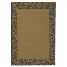 Courtyard Brown / Black Outdoor Area Rug
