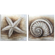 Shell 2 Piece Graphic Art Set