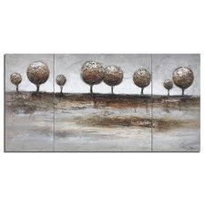 Tree Landscape 3 Piece Painting Print on Canvas Set