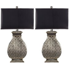 "1 Light 30"" H Table Lamp with Drum Shade (Set of 2)"
