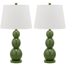 <strong>Safavieh</strong> Jayne 1 Light Three Sphere Table Lamp (Set of 2)