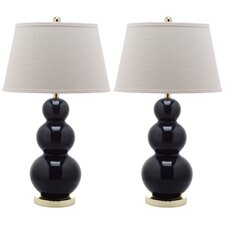 "Pamela Triple Gourd 30"" H Table Lamp with Empire Shade (Set of 2)"