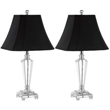"""Lilly 25.5"""" H Table Lamp with Bell Shade (Set of 2)"""