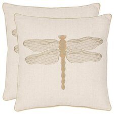 <strong>Safavieh</strong> Isla Cotton / Linen Decorative Pillow (Set of 2)