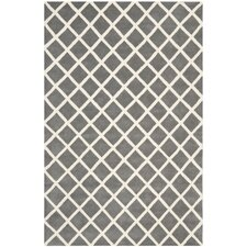 Chatham Cross Dark Grey & Ivory Area Rug