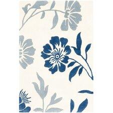 Capri Ivory / Blue Area Rug