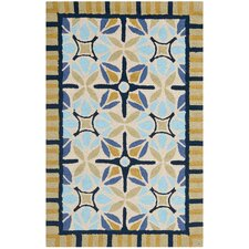 Four Seasons Tan / Blue Outdoor Rug