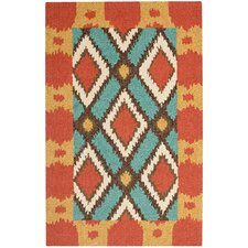 Four Seasons Light Blue/Red Outdoor Area Rug