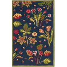 Four Seasons Navy / Green Outdoor Rug